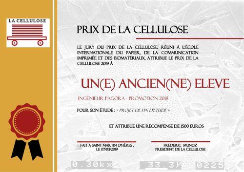 Prix de La Cellulose - promo 2018