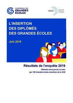 Enquête CGE 2019 : placement des jeunes diplômés (toutes écoles)