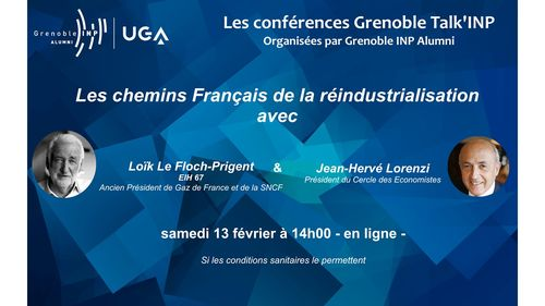 Conférences Grenoble Talk'INP : Les chemins Français de la réindustria